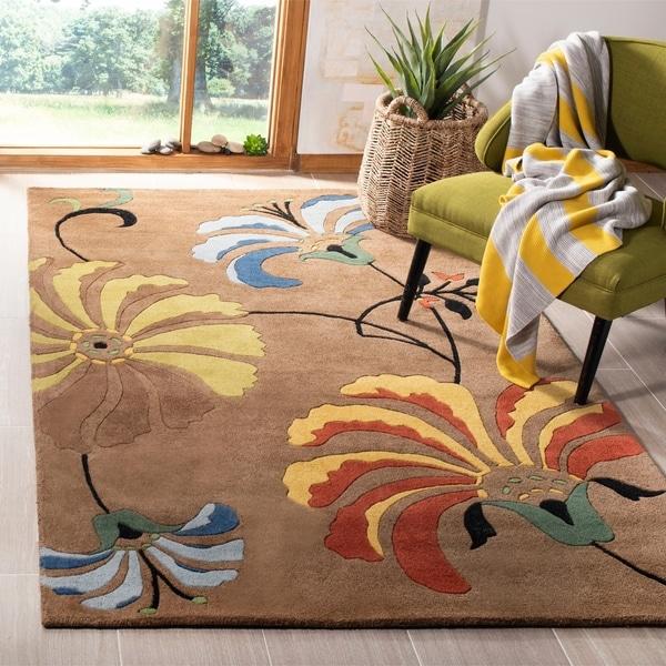 "Safavieh Handmade Soho Brown New Zealand Wool Area Rug - 8'3"" x 11'"