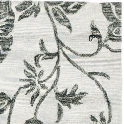 Safavieh Handmade Soho Grey New Zealand Wool Rug (3'6 x 5'6') - Thumbnail 1