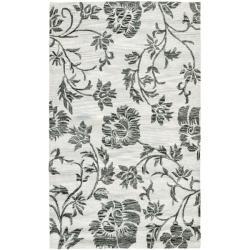 Safavieh Handmade Soho Grey New Zealand Wool Rug - 3'6 x 5'6 - Thumbnail 0