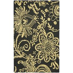 Safavieh Handmade Soho Black Green/ Ivory New Zealand Wool Rug - 7'6 x 9'6 - Thumbnail 0