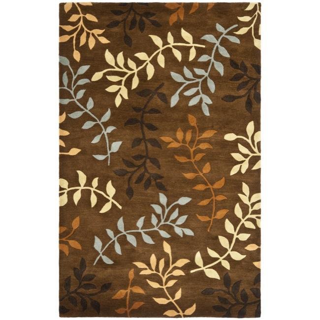 Safavieh Handmade Soho Brown/Multi New Zealand Wool Area Rug - 7'6' x 9'6'