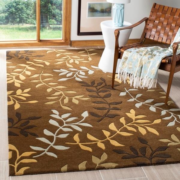 "Safavieh Handmade Soho Brown/Multi New Zealand Wool Area Rug - 7'6"" x 9'6"""