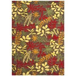 Safavieh Handmade Soho Brown/ Multi New Zealand Wool Rug (7'6 x 9'6)