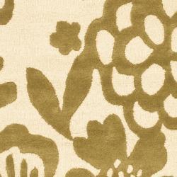 Safavieh Handmade Soho Beige/ Green New Zealand Wool Rug (7'6 x 9'6)