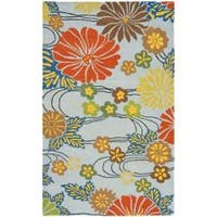 Safavieh Handmade Soho Blue New Zealand Floral Wool Rug - 7'6 x 9'6