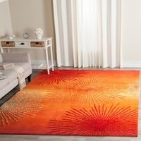Safavieh Handmade Soho Burst Rust New Zealand Wool Rug - 3'6 x 5'6
