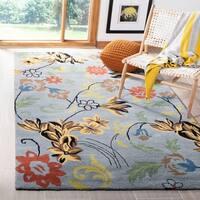 """Safavieh Handmade Soho Blue Indoor New Zealand Wool Rug - 3'-6"""" x 5'-6"""""""