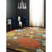 "Safavieh Handmade Soho Brown New Zealand Wool Rug with Cotton Canvas Backing - 7'6"" x 9'6"""