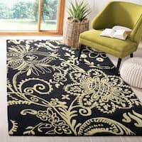 Safavieh Handmade Soho Black Green/Ivory New Zealand Wool Rug - 5' x 8'