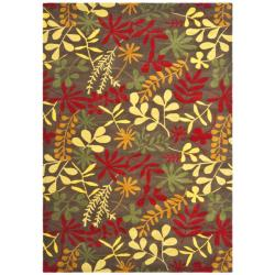 Safavieh Handmade Soho Brown/Multi Flower-Pattern New-Zealand-Wool Rug (5' x 8')