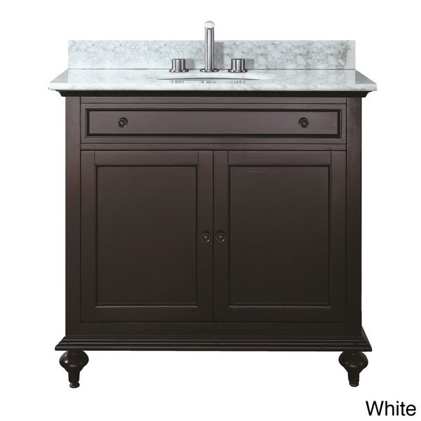 Avanity Merlot 24-inch Single Vanity in Espresso Finish with Sink and Top