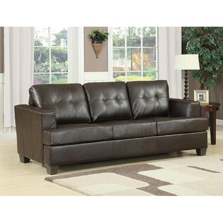 Diamond Brown Bonded Leather Sleeper