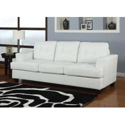 Diamond White Bonded Leather Sleeper Sofa Ping The Best Deals On Sofas Couches