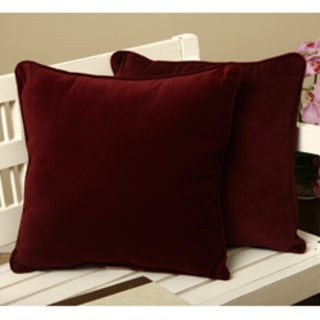 Cotton Velvet Decorative 18 Inch Throw Pillows (Set of 2)
