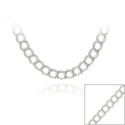 Mondevio Silver 24-inch Italian Intertwined Double Circle Necklace