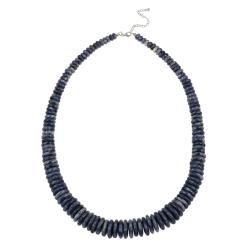 Glitzy Rocks Sterling Silver Graduated Sodalite 24-inch Necklace