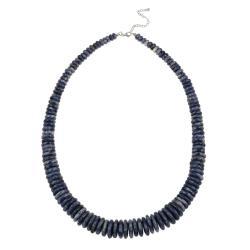 Glitzy Rocks Sterling Silver Graduated Sodalite 24-inch Necklace