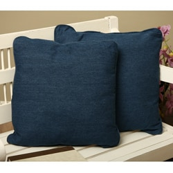 Denim Square Throw Pillows (Set of 2)