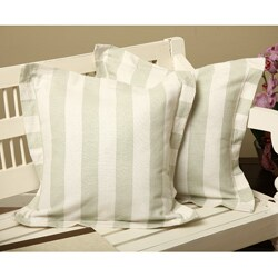 Cabana Stripe Square Throw Pillows (Set of 2)