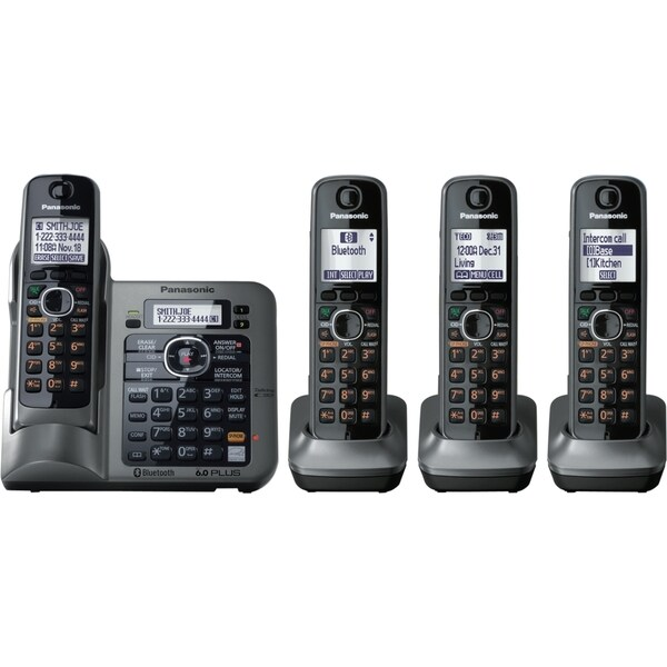 Panasonic Link2Cell KX-TG7644M DECT 6.0 1.90 GHz Cordless Phone - Met