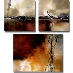 Laurie Maitland 'Symphonies of Red' 3-piece Canvas Art Set