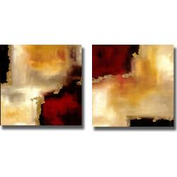 Laurie Maitland 'Symphonies of Red II' 4-piece Canvas Art Set - Thumbnail 2