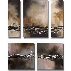 Laurie Maitland 'Tobacco and Chocolate' 5-piece Canvas Art Set
