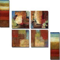 Emet, Cardenas, Li-Leger 'Color Notes' 6-piece Canvas Art Set