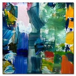 Michelle Calkins Contemporary 'Color Relationships IV' Canvas Art