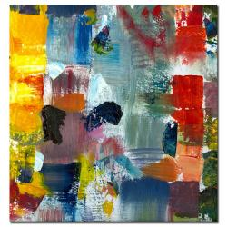 Michelle Calkins 'Color Relationships III' Abstract Canvas Art - Thumbnail 1