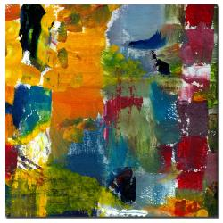 Michelle Calkins 'Color Relationships I' Small Canvas Art - Thumbnail 1