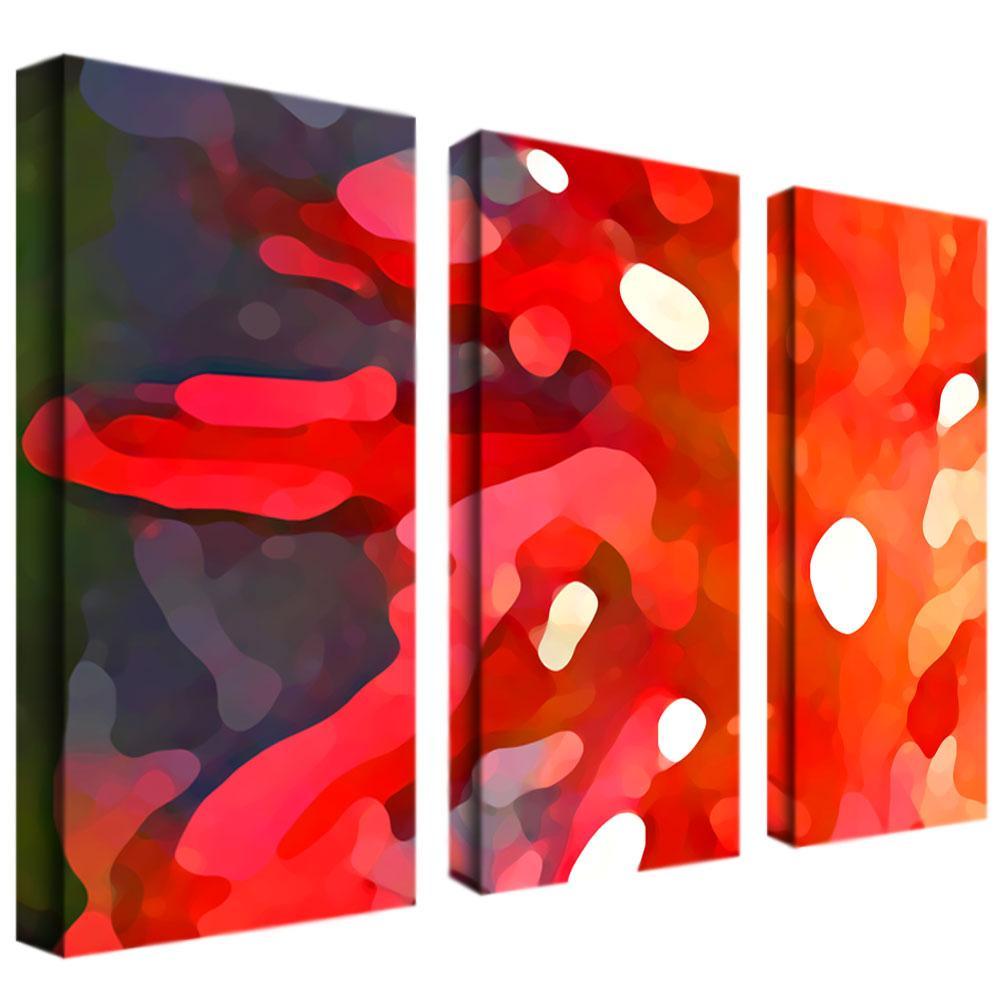 Amy Vangsgard 'Red Sun' 3-piece Art Set