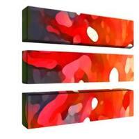 Amy Vangsgard 'Red Sun' 3-panel Art Set