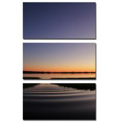 Patty Tuggle 'Sun Down, Moon Up' 3-piece Art Set - Thumbnail 1
