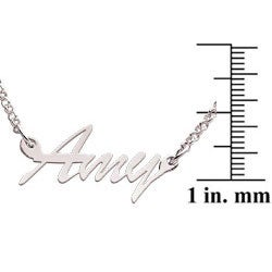 Sterling Silver 'Amy' Script Name Necklace - Thumbnail 2