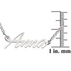 Sterling Silver Anna Script Name Necklace - Thumbnail 2