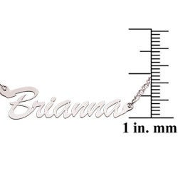 Sterling Silver 'Brianna' Script Name Necklace - Thumbnail 2