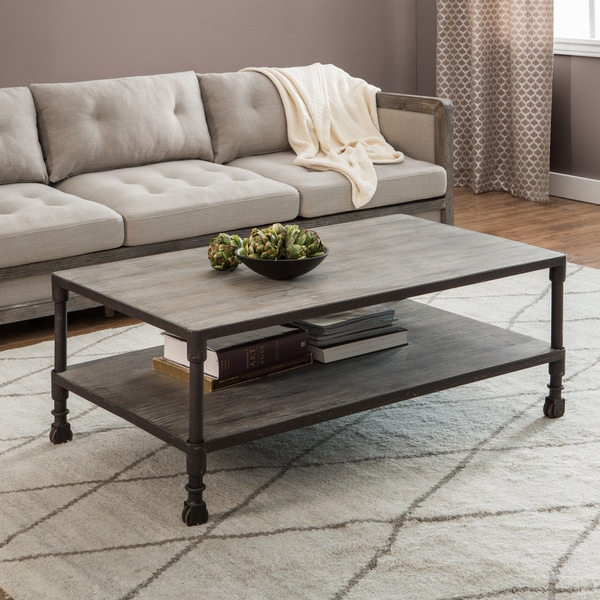 Stones U0026amp; Stripes Renate Brown/Grey Coffee Table