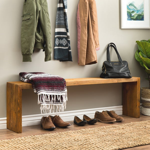 Shop Strick Bolton 60 Inch Weathered Reclaimed Look Bench Free