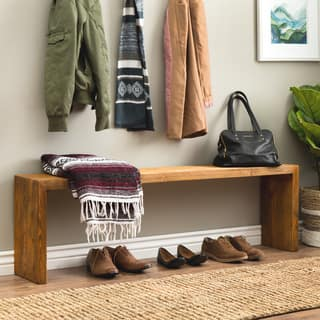 rustic living room furniture. 60 inch Weathered  Reclaimed Look Bench Rustic Living Room Furniture For Less Overstock com