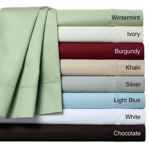 Lancaster Sateen 1000 Cotton Blend Thread Count 6- Piece Sheet Set