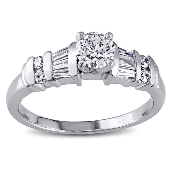 Miadora Signature Collection Platinum 3/4ct TDW Diamond Ring
