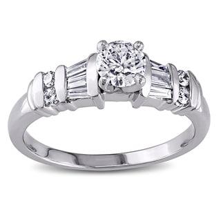 Miadora Signature Collection Platinum 3/4ct TDW Diamond Ring (H-I, I1-I2)