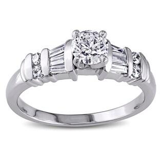 Miadora Signature Collection Platinum 3/4ct TDW Diamond Ring