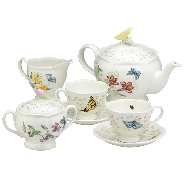 Shop Lenox Butterfly Meadow Tea Set Free Shipping Today