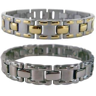 Mangetic Stainless Steel MT-laced Bracelets|https://ak1.ostkcdn.com/images/products/5782169/P13506270.jpg?impolicy=medium
