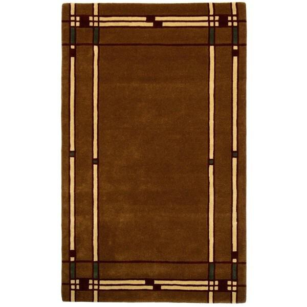 Hand-tufted Liberty Brown Wool Rug (5 'x 8')