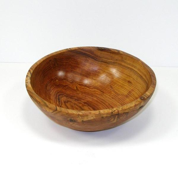 Hand-carved Olive Wood 9-inch Bowl  , Handmade in Kenya
