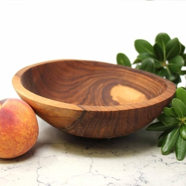 6 in, 7 in, 8 in Rusticity/® Wooden Serving Bowls Handmade | Set of 3