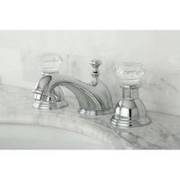 Shop Crystal Handle Chrome Widespread Bathroom Faucet Free - Bathroom faucets and hardware